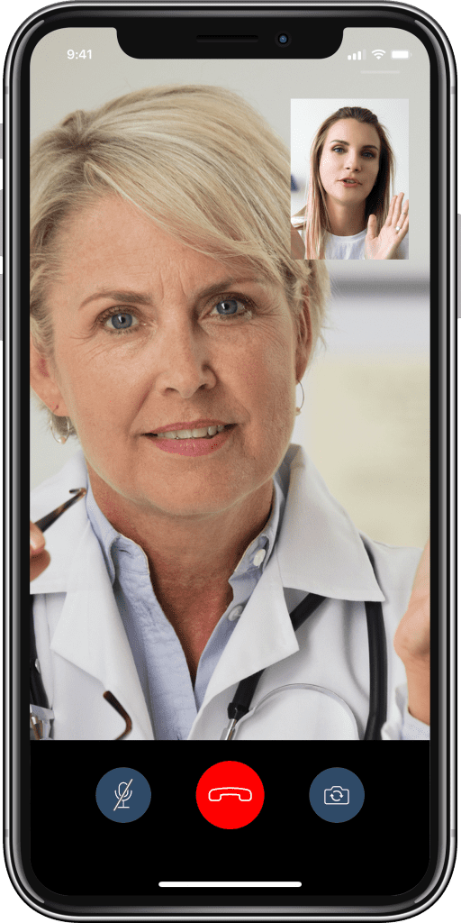 online doctor video call with patient in image